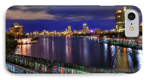 Boston Skyline And The Boston University Bridge IPhone Case by Joann Vitali