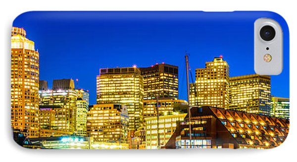 Boston Skyline At Night Panorama IPhone Case by Paul Velgos
