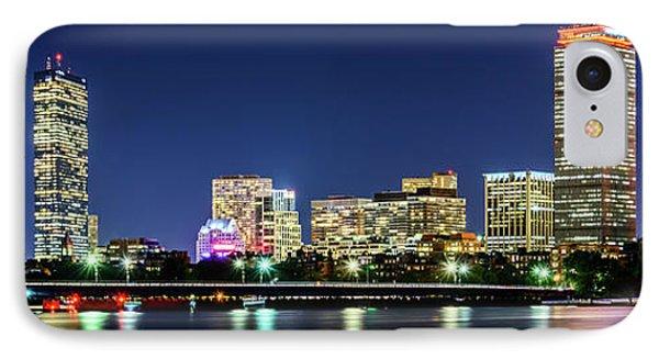 Boston Skyline At Night Panorama Photo IPhone Case by Paul Velgos