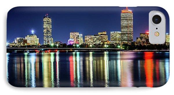 Boston Skyline At Night With Harvard Bridge IPhone Case by Paul Velgos