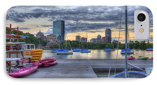 Boston Skyline At Sunset IPhone Case by Joann Vitali