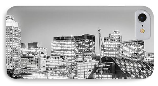 Boston Skyline Black And White Panorama IPhone Case by Paul Velgos