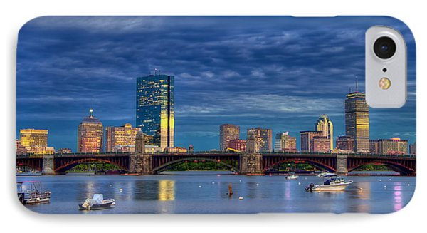 Boston Skyline Blue Hour Sunset IPhone Case by Joann Vitali