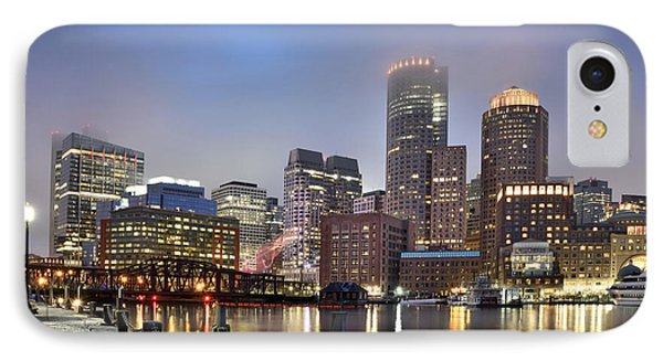 Boston Skyline IPhone Case by Brendan Reals