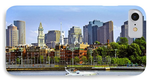 Boston Skyline Phone Case by Elena Elisseeva