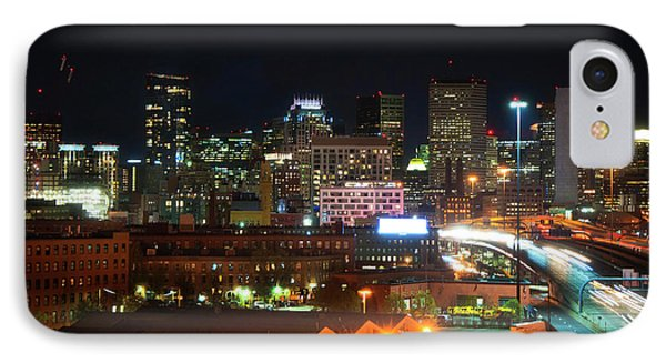 Boston Skyline From South End IPhone Case by Joann Vitali