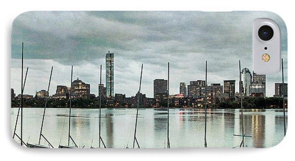 Boston Skyline From The Mit Sailing Pavilion - Cambridge Ma IPhone Case by Joann Vitali