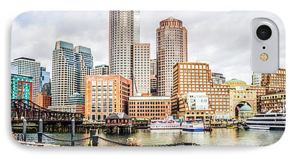 Boston Skyline Harborwalk Panorama Picture IPhone Case by Paul Velgos