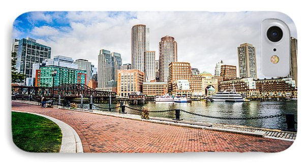 Boston Skyline Harborwalk Picture IPhone Case by Paul Velgos