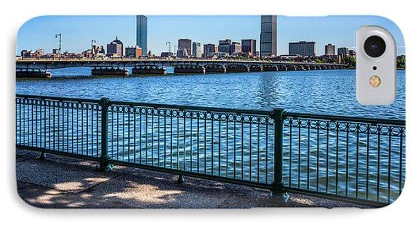 Boston Skyline Harvard Bridge Photo IPhone Case by Paul Velgos