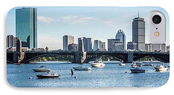 Boston Skyline Longfellow Bridge Panorama Photo IPhone Case by Paul Velgos