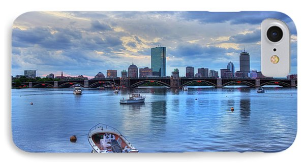 Boston Skyline On The Charles River At Sunset IPhone Case by Joann Vitali