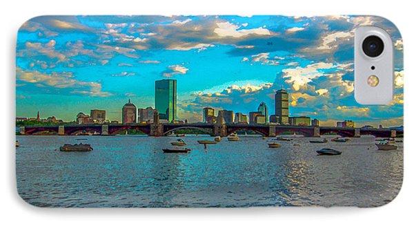 Boston Skyline Painting Effect IPhone Case