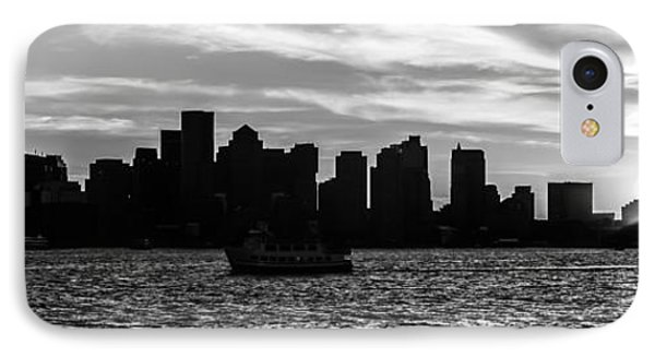 Boston Skyline Panorama Black And White Photo IPhone Case by Paul Velgos