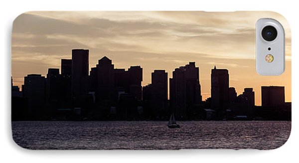 Boston Skyline Panorama Sunset Picture IPhone Case by Paul Velgos