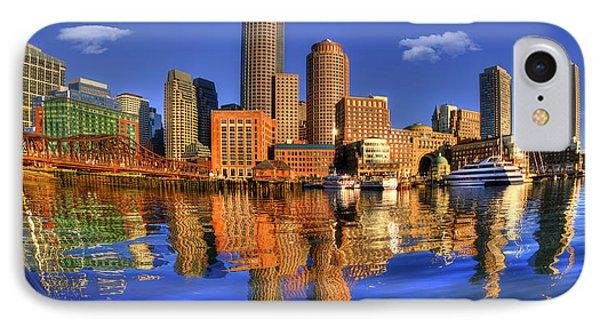 Boston Skyline Panoramic From Fan Pier IPhone Case by Joann Vitali