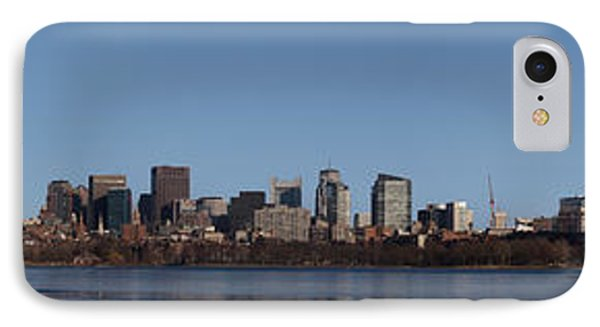 Boston Skyline Panoramic In Winter IPhone Case by Panoramic Images