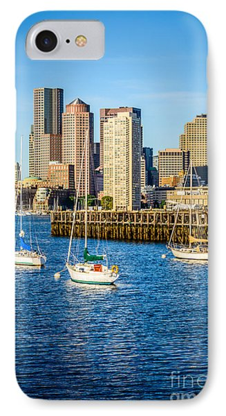 Boston Skyline Photo With Port Of Boston IPhone Case by Paul Velgos