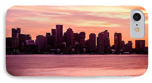 Boston Skyline Picture With Colorful Sunset IPhone Case by Paul Velgos