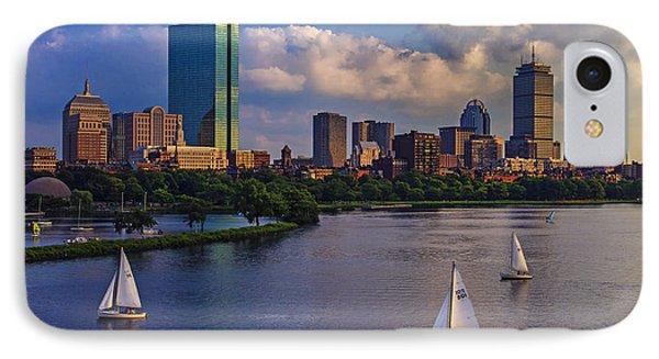 City Scenes iPhone 7 Case - Boston Skyline by Rick Berk