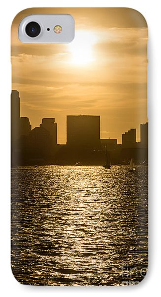 Boston Skyline Sunset Picture IPhone Case by Paul Velgos