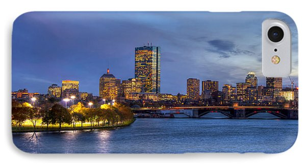 Boston Skyline Twilight Over Back Bay IPhone Case by Joann Vitali