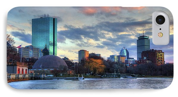 Boston Skyline Winter Sunset IPhone Case by Joann Vitali