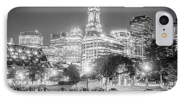 Boston Skyline With Christopher Columbus Park IPhone Case