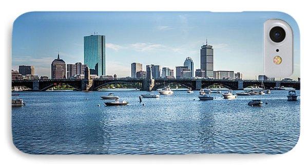 Boston Skyline With The Longfellow Bridge IPhone Case by Paul Velgos