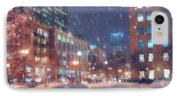 Boston Snowstorm In Back Bay IPhone Case by Joann Vitali