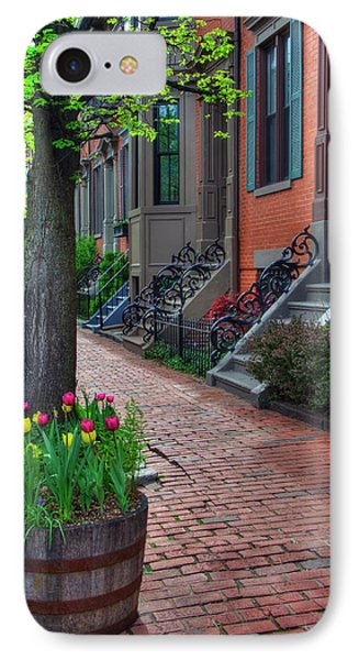 Boston South End Row Houses Phone Case by Joann Vitali