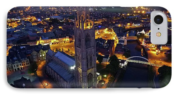 Boston Stump At Night IPhone Case by TheDroneMan Net