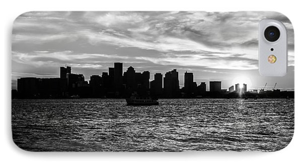 Boston Sunset Black And White Photo IPhone Case by Paul Velgos