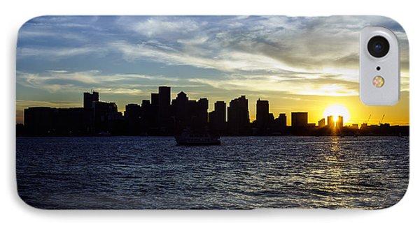 Boston Sunset With Boston Skyline IPhone Case by Paul Velgos