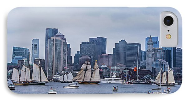 Boston Tall Ship Parade 2017 Ships In The Harbor IPhone Case