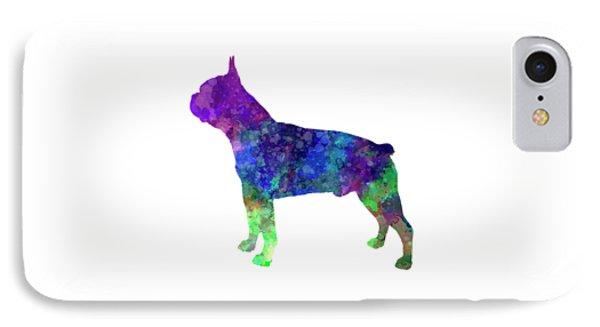 Boston Terrier 02 In Watercolor IPhone Case by Pablo Romero