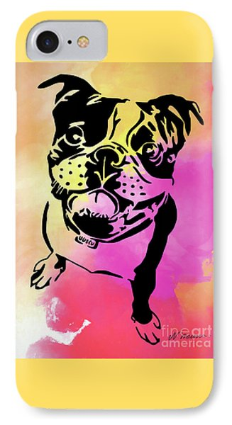 Boston Terrier Art By Nikki And Kaye Menner IPhone Case by Kaye Menner