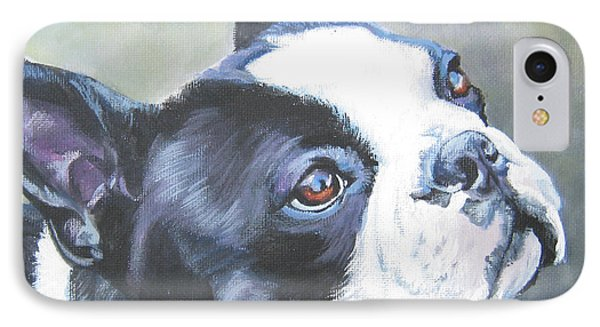Cabbage iPhone 7 Case - boston Terrier butterfly by Lee Ann Shepard