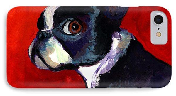 Boston Terrier Dog Portrait 2 IPhone Case by Svetlana Novikova