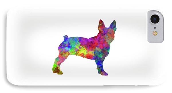 Boston Terrier 01 In Watercolor IPhone Case by Pablo Romero