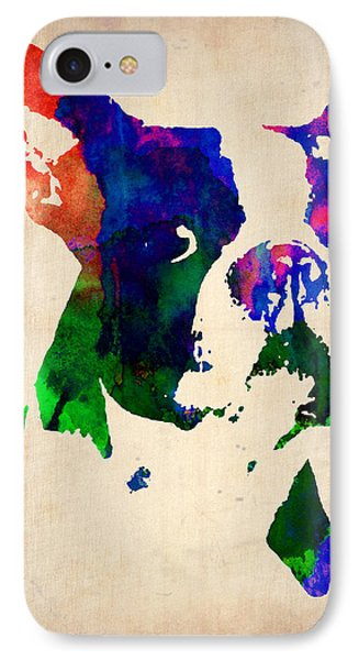Boston Terrier Watercolor IPhone Case by Naxart Studio