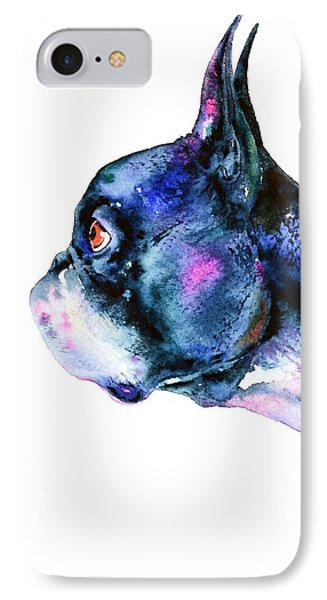 Boston Terrier  IPhone Case by Zaira Dzhaubaeva