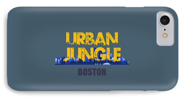 Boston Urban Jungle Shirt IPhone Case by Joe Hamilton
