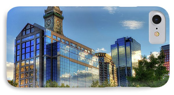Boston Waterfront Architecture IPhone Case by Joann Vitali