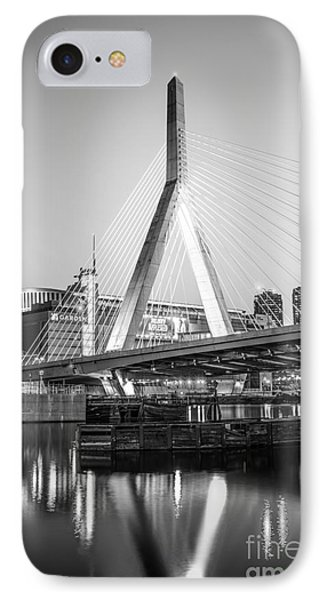 Boston Zakim Bridge Black And White Photo IPhone Case by Paul Velgos