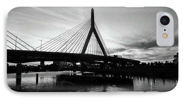 Boston Zakim Bridge Black And White Picture IPhone Case by Paul Velgos