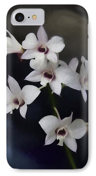 Botanic Garden Orchid Bouquet 4 IPhone Case by Rebecca Snyder