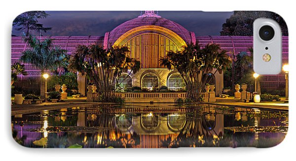 Botanical Building At Night In Balboa Park IPhone Case by Sam Antonio Photography