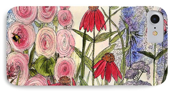 IPhone Case featuring the painting Botanical Wildflowers by Laurie Rohner
