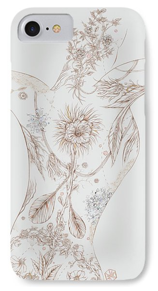 Botanicalia Claire IPhone Case by Karen Robey
